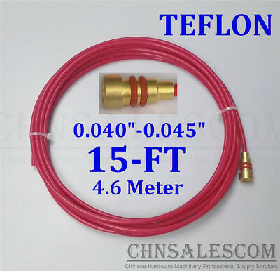 Ptfe Liner 15ft Mig Welding Gun Wire Size 0.040-.045 Aluminium Wires Mi Li Tw