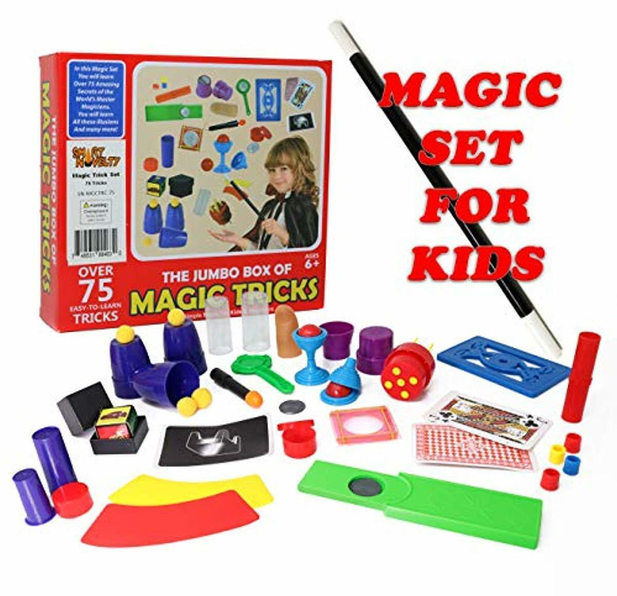 Magician, Set for Kids, Beginners Magic Tricks kit Novelty.