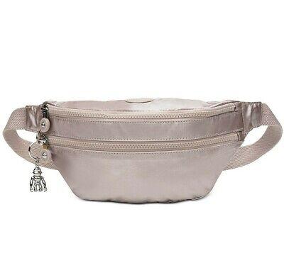 KIPLING  Fanny Pack Waist Pouch Belt Bag  Sara Metallic Rose Nwt