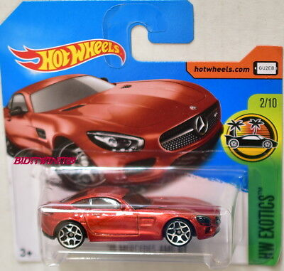 HOT WHEELS 2017 HW EXOTICS '15 MERCEDES-AMG GT RED SHORT CARD
