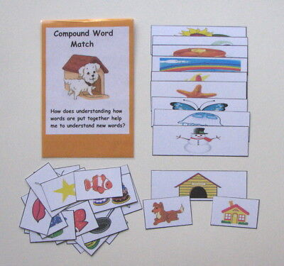 Compound Words Game (Teacher Made Literacy Center Educational Resource Game Compound Word)