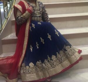 Blue gown dress, indian gown , indian party wear