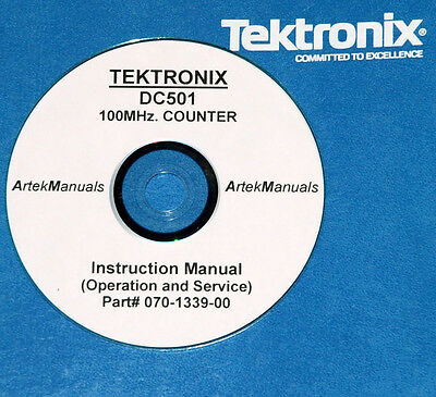 Tektronix Tek Dc501 100mhz Counter Operating Service Manual Wschematics