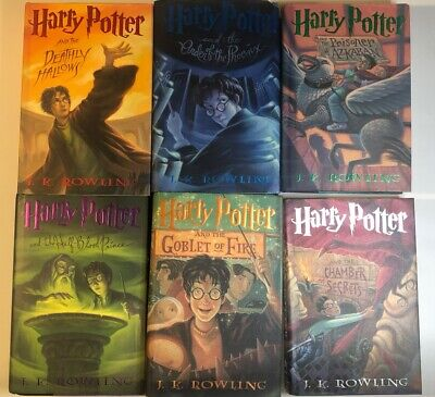 Harry Potter J. K. Rowling 1st American Edition Hardcover Books 2-7 Lot Of 6