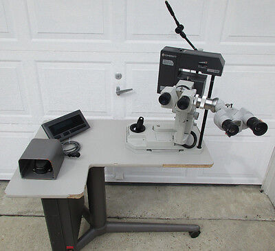 Coherent 7970yag Laser W Zeiss F.125 50 Heads Powered Table Foot Switch