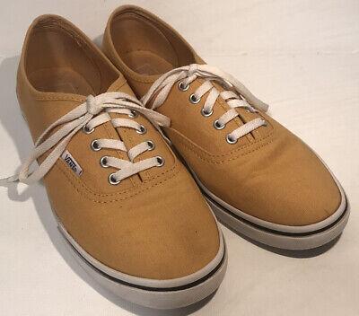 VANS Lo Pro Mustard Yellow Lace Up Skate Shoes Men's Size 7.5 Women's 9