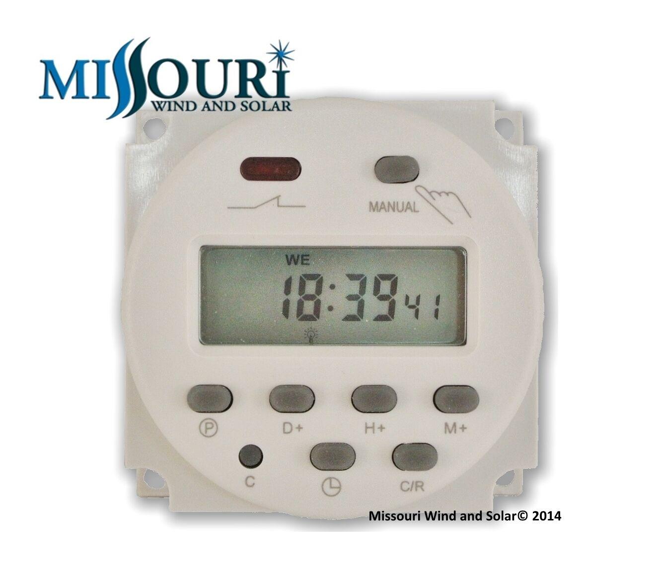 12 volt dc digital programmable timer
