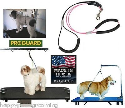 NO SIT Dog Grooming HEAVY DUTY Cable Loop Haunch Holder RESTRAINT Harness System