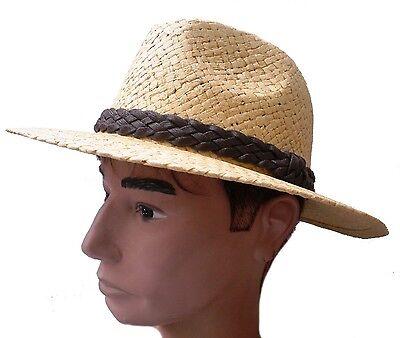 Papierstroh eleganter Straßenhut vanillefarbig Sonnenschutz (Papier Hut)