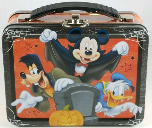 1 Disney Mickey Mouse & Friends Halloween Mini Tin Lunch Box