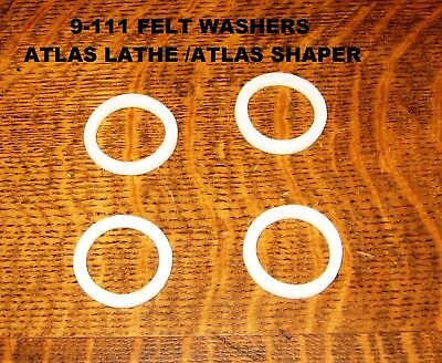 Atlas Lathe Countershaft 4 Felt Washers Part 9-111 10 Inch Lathe 7 Shaper
