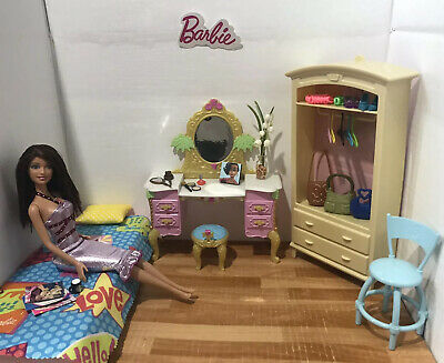 Barbie Playset 💙 Bedroom With Furniture, Doll & Accessories