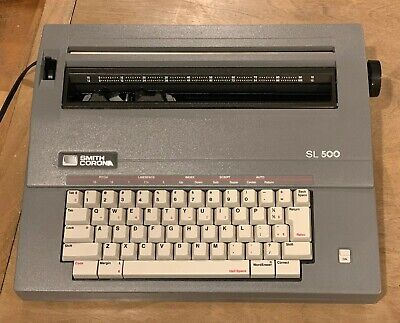 Smith Corona Sl500 Sl 500 Portable Electric Typewriter W Cover -great Condition
