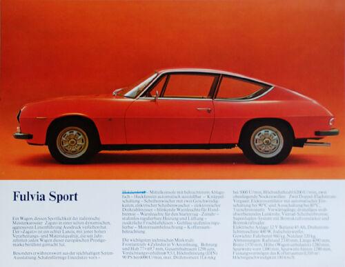 Lancia full range brochure Prospekt, 1972 (German text)