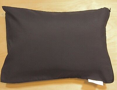 "Black Travel Pillow Cover Case 14""X 20"" Pillow Zipper Pillowcase AllerEase New r"