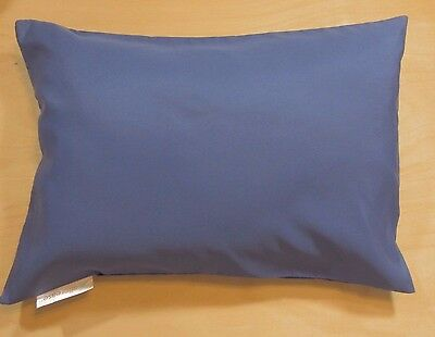 "Blue Travel Pillow Cover Case 14""X 20"" Pillow Zipper Pillowcase AllerEase New #r"