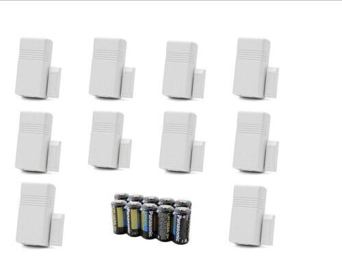 New Lot of 10 Honeywell 5816 WMWH White Door/Window Transmitter w/ Magnets