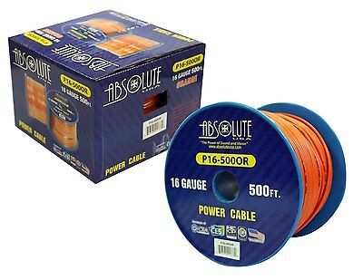 Absolute Usa P16-500or 16 Gauge 500-feet Spool Primary Po...