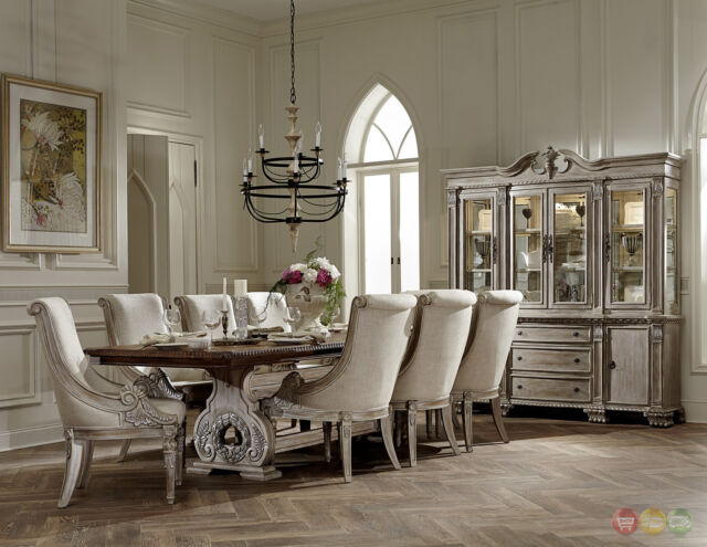 Homelegance Orleans II White Wash Traditional 7pc Formal Dining ...