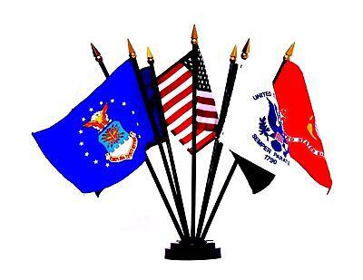 US Military Desk Flag Set 4