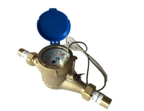"DAE MJ-75 Lead Free Potable Water Meter, 3/4"" NPT Couplings, Pulse Output+Gallon"