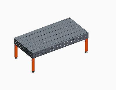 3d Modular Welding Table Top Jig Bench Fixture Laser 2000x1000x200mm Dxf File