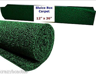 Miners Moss 12 X 36 Gold Pan Panning Mining Sluice Box Matting Mat Green