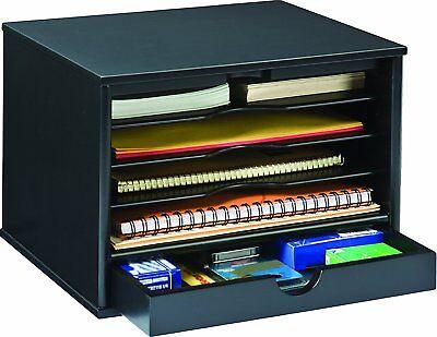 Small Shelf Desktop File Cabinet Storage Organizer Office Home Desk Notepads