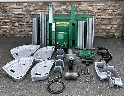 Greenlee 881 Hydraulic Pipe Bender 2-12-4 Rigid Imc Emt 980 Pump 1813 Table