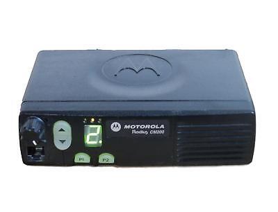 Motorola Cm200 Mobile Vehicle Radio Vhf 146-174 4ch 45 Watt Aam50kqc9aa1an
