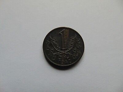 Münze Böhmen und Mähren 1942 Czechy A Morava 1 Koruna