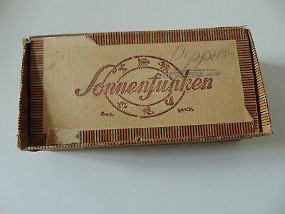DDR Zigarrenkiste Sonnenfunken VEB Leisniger Zigarrenfabriken Zweigbetr. Döbeln
