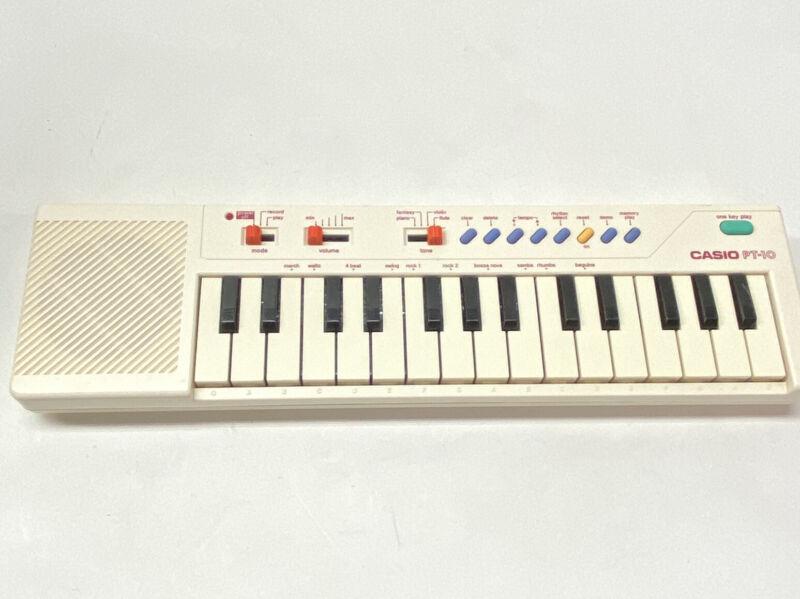 Casio Electronic Keyboard PT-10 Vintage Mini Portable Piano 1980