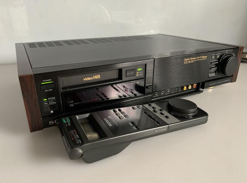 Sony EV-S3000 8mm Hi8 PCM Stereo HiFi Editing VCR RARE w/ Remote