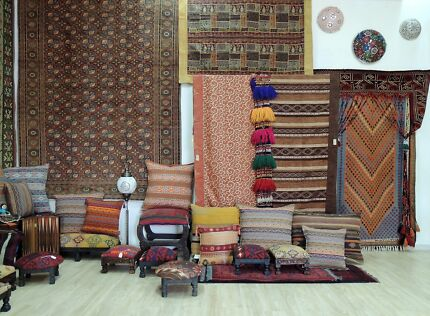 Retail shop with Turkish handcrafts for sale