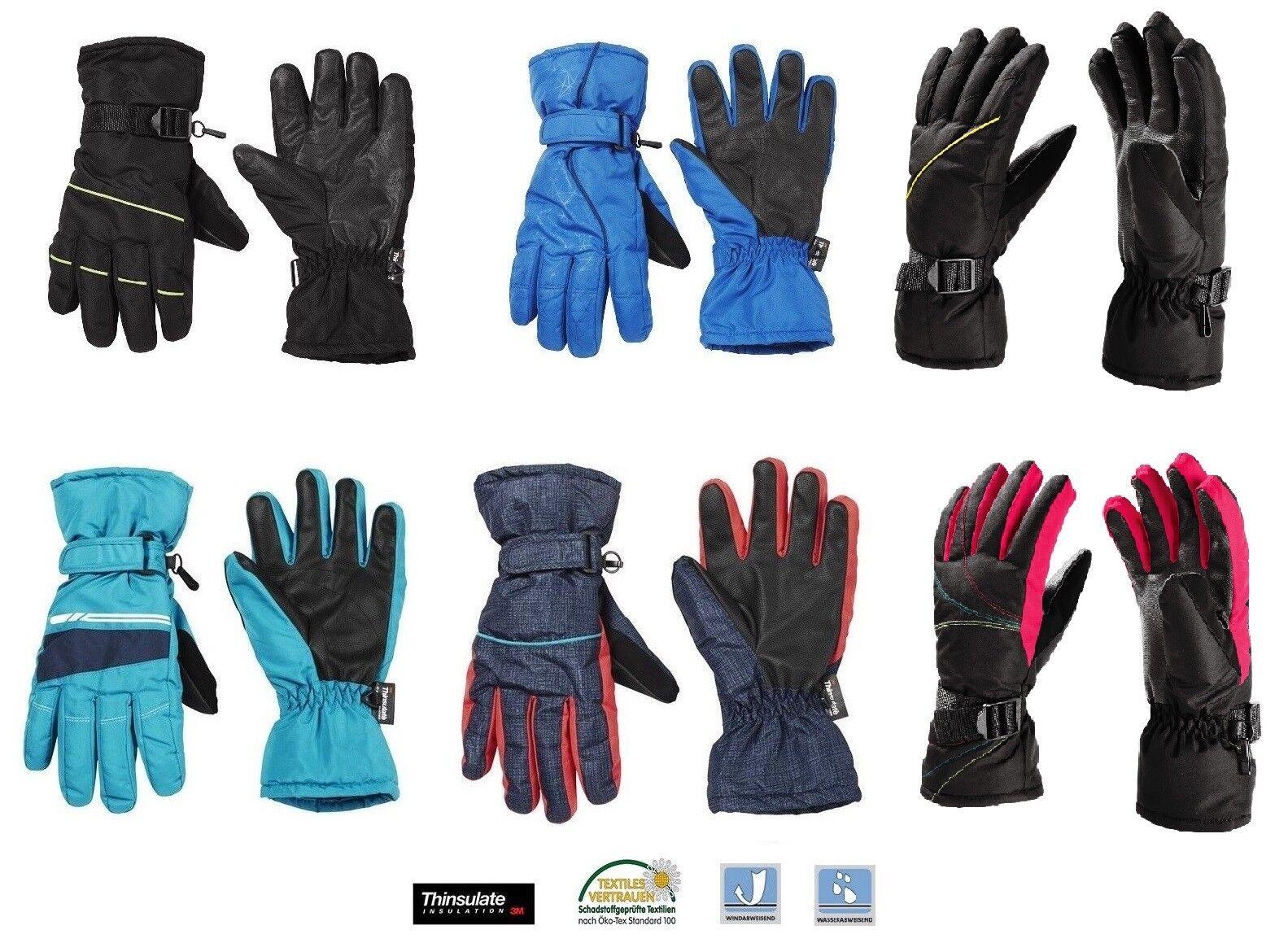 Herren Damen Skihandschuhe Ski Handschuhe Outdoor Sport auswahl Gr. 7,0 - 9,5