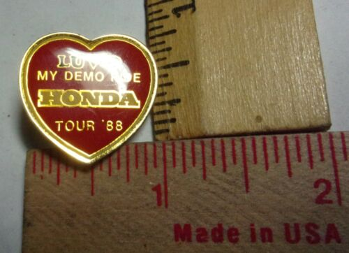 1988 Honda pin collectible old Japanese motorcycle pinback biker memorabilia