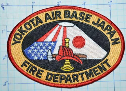 JAPAN, YOKOTA AIR BASE FIRE DEPT USAF US AIR FORCE FUSSA TOKYO PATCH