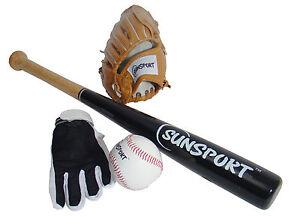 Baseball Set 4-teilig Junior für Kinder mit Zubehör TOP NEU
