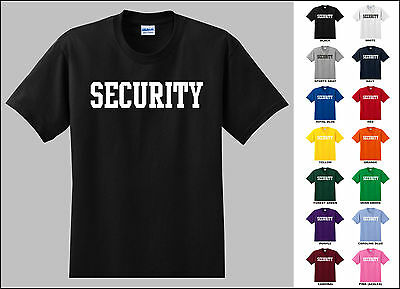 Security T-shirt Printed Front And Back Available In 14 Colors