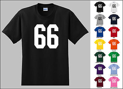 Number 66 Sixty Six T-shirt