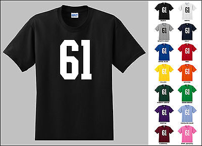 Number 61 Sixty One T-shirt