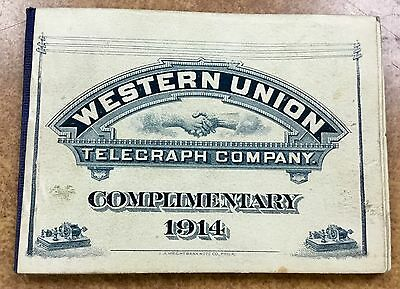 {BJ STAMPS} US 16T45 & 16T46  1914 WESTERN UNION TELEGRAPH BOOKLET 20 MINT PANES