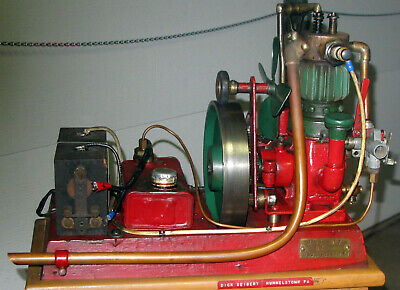Running Antique Custom 1916 Stuart Air Pump Engine Driven 4 Cycle