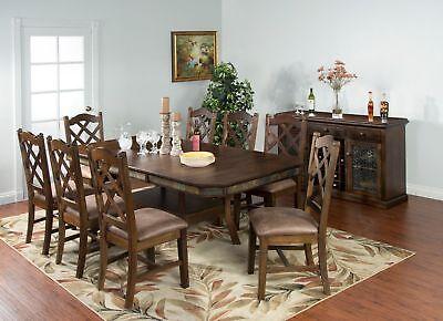 Sunny Savannah Furniture Dual Height Extension 9 Piece Dining Set