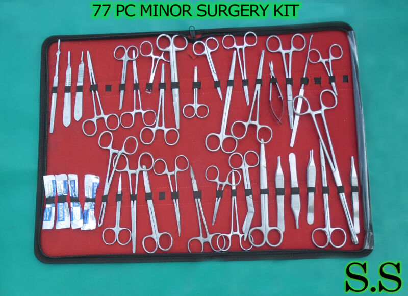77 PC O.R GRADE MINOR SURGERY SURGICAL INSTRUMENTS KIT