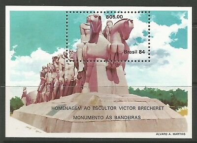 STAMPS-BRAZIL. 1984. Victor Brecheret Miniature Sheet. SG: MS2061. MNH.
