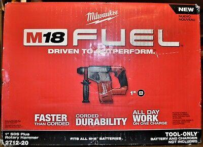Milwaukee 18v 2712-20 Brushless Cordless 1 Sds-plus Rotary Hammer Tool Only New