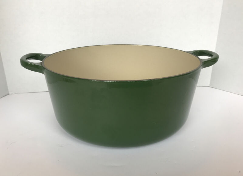 Le Creuset Dutch Oven #26 5.5 Qt Green Made In France No Lid
