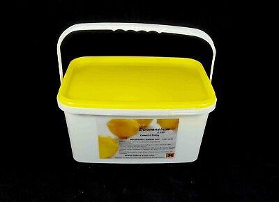 5kg  Eimer Zitronensäure  E330 Lebensmittelqualität Entkalker Reiniger Granulat